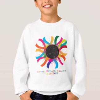 2017 Total Solar Eclipse Corona Text Color Sweatshirt