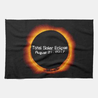 2017 Total Solar Eclipse Kitchen Towel