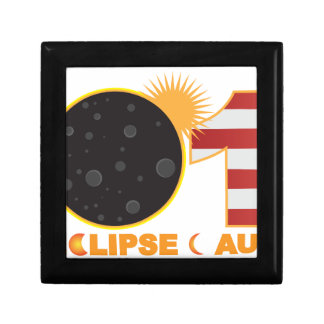2017 Total Solar Eclipse Over USA Numeral Gift Box