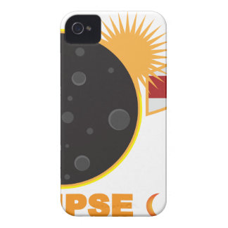 2017 Total Solar Eclipse Over USA Numeral iPhone 4 Case