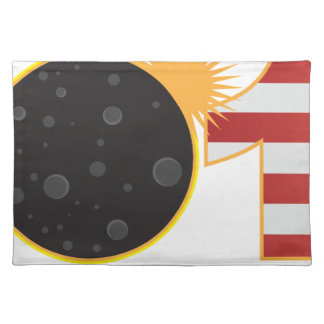 2017 Total Solar Eclipse Over USA Numeral Placemat