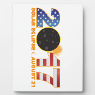 2017 Total Solar Eclipse Over USA Numeral Plaque