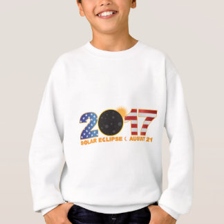 2017 Total Solar Eclipse Over USA Numeral Sweatshirt