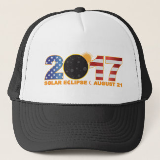 2017 Total Solar Eclipse Over USA Numeral Trucker Hat