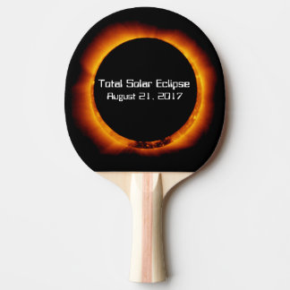 2017 Total Solar Eclipse Ping Pong Paddle
