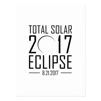 2017 Total Solar Eclipse Postcard