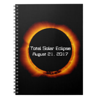 2017 Total Solar Eclipse Spiral Notebook