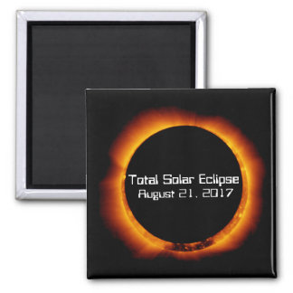 2017 Total Solar Eclipse Square Magnet