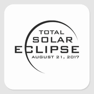 2017 Total Solar Eclipse Square Sticker
