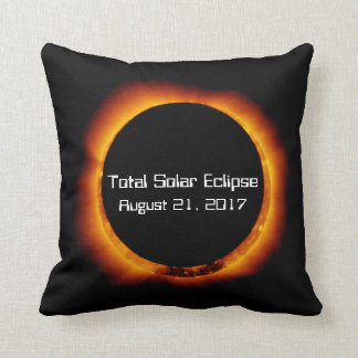 2017 Total Solar Eclipse Throw Pillow