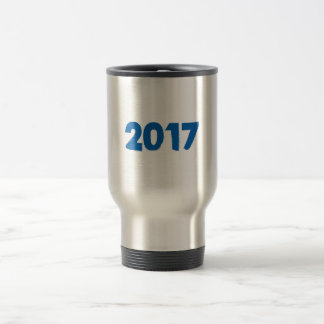 2017 U can change TEXT STYLE and TEXT COLOR Travel Mug