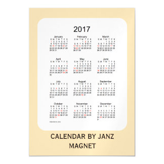 2017 Wheat Calendar by Janz 5x7 Magnet Magnetic Invitations