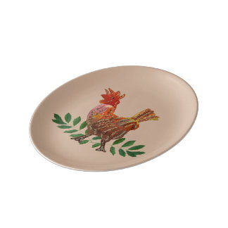 2017 Year of the Rooster Porcelain Plates