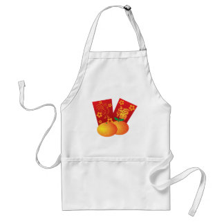 2017 Year of the Rooster Red Packets Illustration Standard Apron