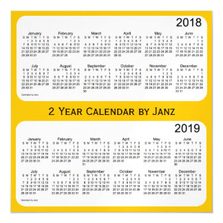 2018-2019 Gold 2 Year Calendar by Janz Magnetic Card