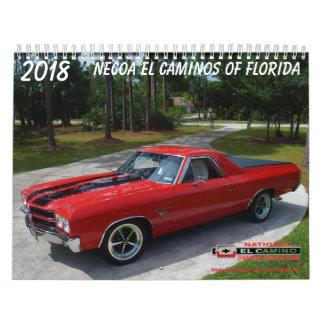 2018 #6 NECOA El Caminos of Florida Calendar