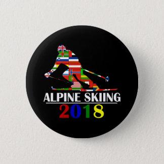 2018 ALPINE SKIING 2 INCH ROUND BUTTON