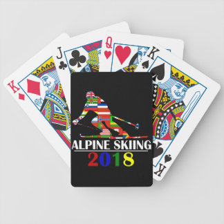2018 ALPINE SKIING BICYCLE PLAYING CARDS