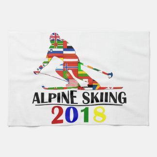 2018 ALPINE SKIING KITCHEN TOWEL