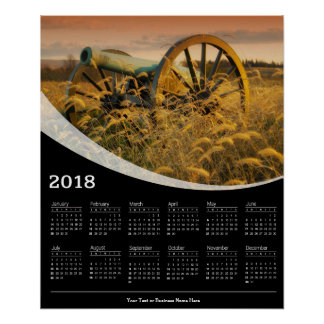 2018 Antique Cannon Poster Calendar