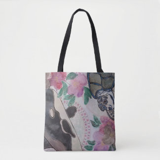 2018 blue turtle tote bag