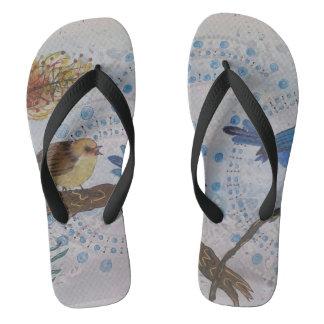 2018 blue wren flip flops