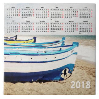 2018 boats calendar tile