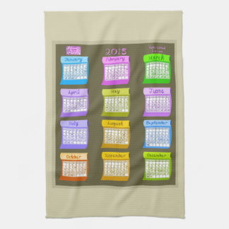 2018 Calendar Bolts of Fabric taupe kitchen towel