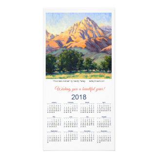 2018 Calendar Card Mountain Sonnet by Sandy Farley