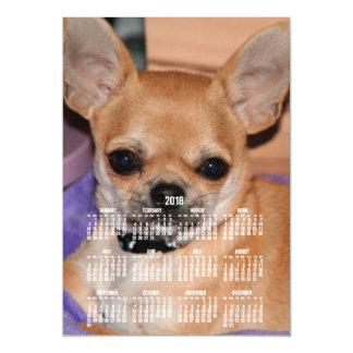 2018 Calendar Chihuahua Magnetic Photo Card 5x7