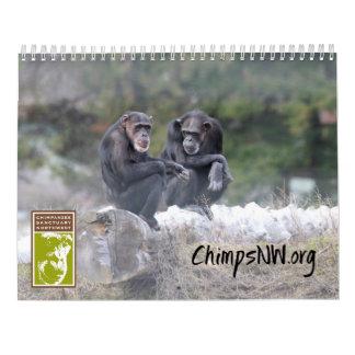 2018 Calendar for Chimpanzee Sanctuary Northwest