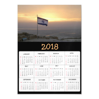 2018 Calendar Israeli Flag Israel Photo Magnetic Card