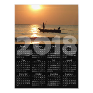 2018 Calendar Magnetic Fishing Photo Card
