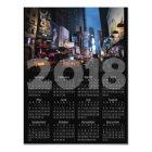 2018 Calendar Magnetic New York City Card