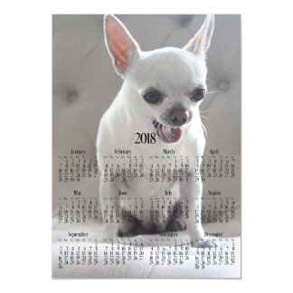 2018 Calendar Magnetic Photo Chihuahua Card 5x7
