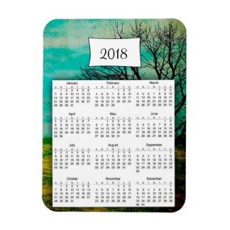 2018 Calendar Mystical Tree Photo Magnet