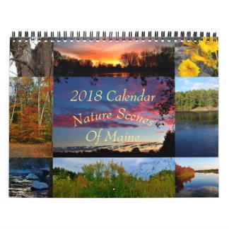 2018 Calendar Nature Scenes Of Maine