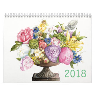 2018 Calendar of Botanical watercolors