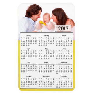 2018 Calendar Personalized Family Photo Magnet
