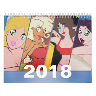 2018 Cartoon Pin-Up Calendar