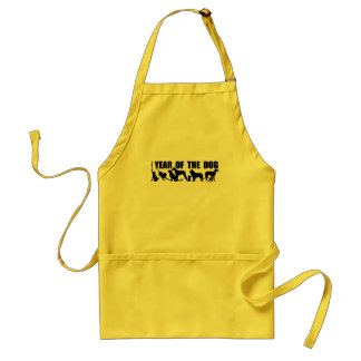 2018 Chinese New Year of The Dog Yellow Apron