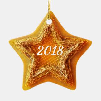2018 Christmas Star Ceramic Ornament