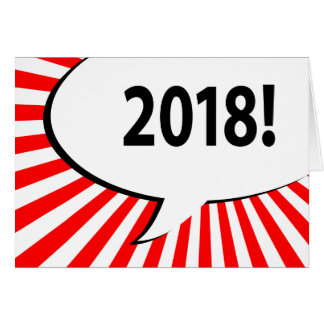 2018 comic bubble card