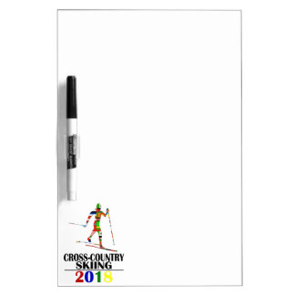 2018 CROSS-COUNTRY SKIING DRY ERASE BOARD