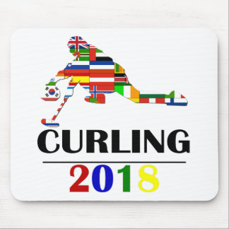 2018 CURLING MOUSE PAD