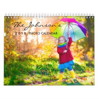 2018 Custom | Monthly One Photo Calendar