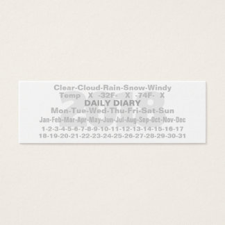 2018 Daily Diary Card Fahrenheit