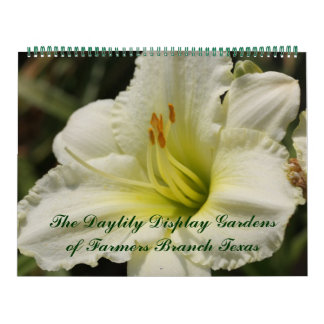 2018 Day Lily Display Gardens Calendars