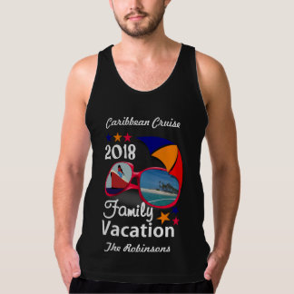 2018 Family Vacation  Cruise Graphic Personalized Tank Top