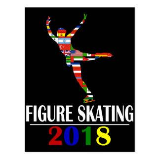2018 FIGURE SKATING POSTCARD